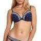 Watercult Artful Dot 7206 Bikini-Oberteil indigo-offwhite