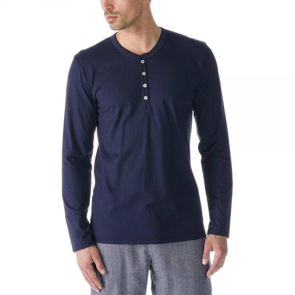 Mey Single 61564 Shirt langarm yacht blue