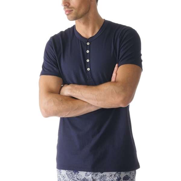 Mey Single 61554 Shirt kurzarm yacht blue