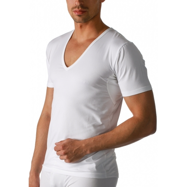 Mey Dry Cotton Functional 46038 V-Neck Shirt weiss