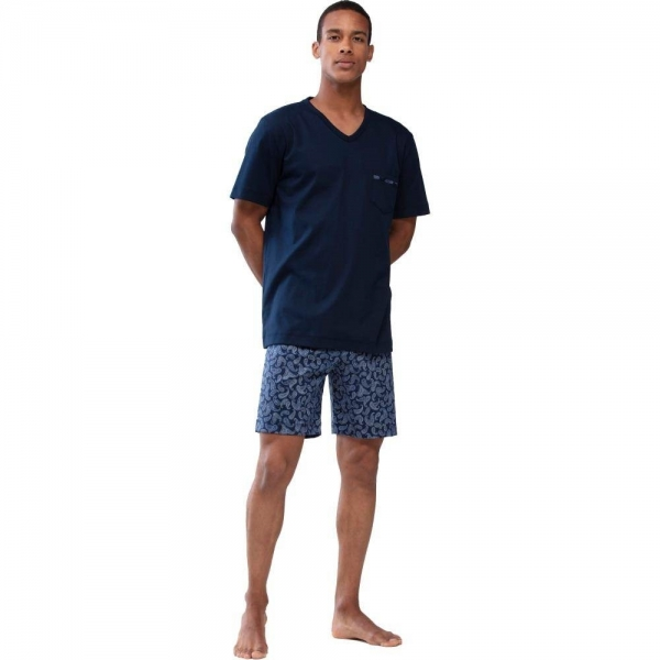 Mey Paisley 24471 Schlafanzug yacht blue