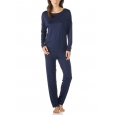 Mey Selina 14934 Schlafanzug lang night blue