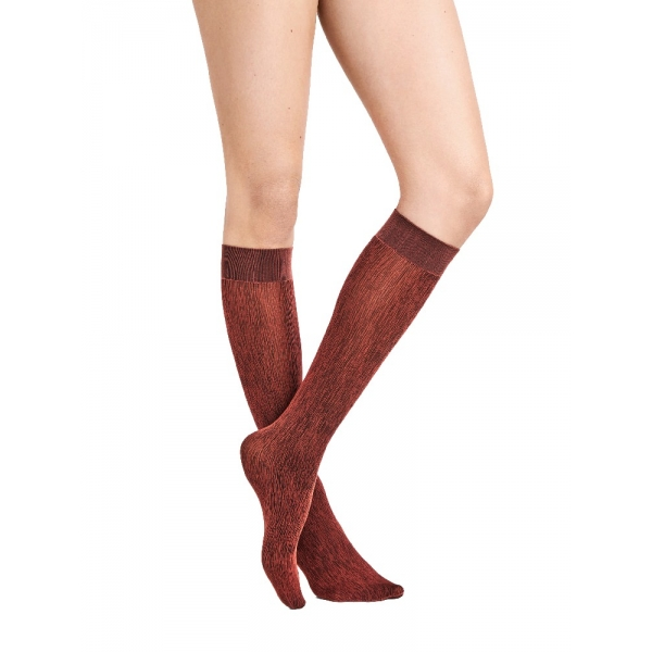 Wolford Amazonian Poison Knee-Highs 31675 Kniestrumpf red rust/black