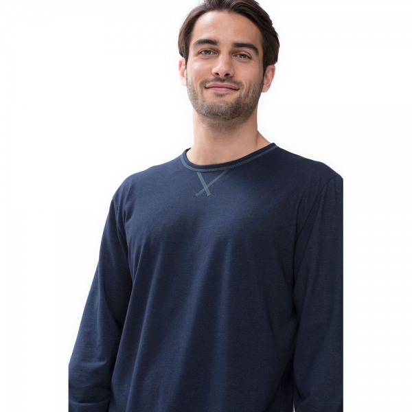 Mey N8tex 66640 Shirt langarm yacht blue