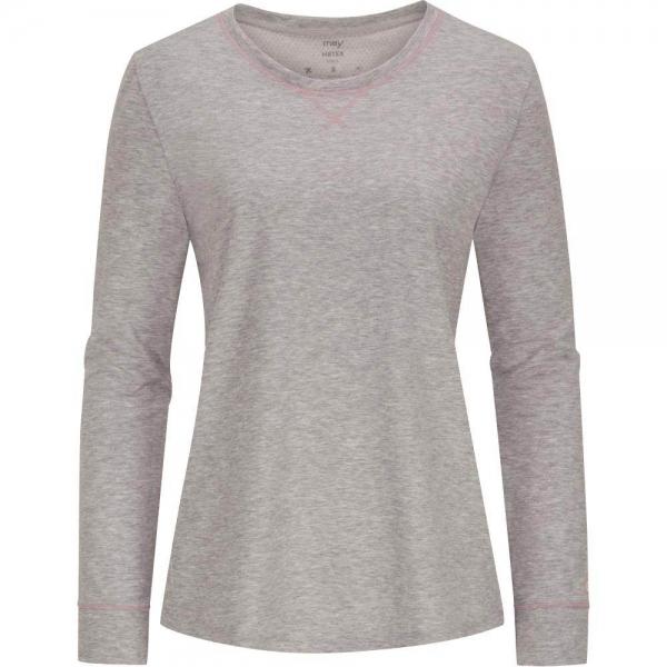 Mey Zzzleepwear 16897 Shirt langarm stone grey