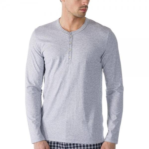 Mey Single 61564 Shirt langarm light grey melange